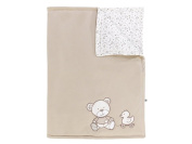 Jacky NOS Bear Blanket, Off-White/Beige, 100 x 70 cm