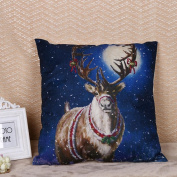 Masrin Decorative Pillowcases Merry Christmas Print Linen Cotton Sofa Cushion Cover Home Party Gift