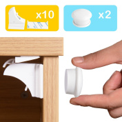 Baby and Child Proof Magnetic Cupboard Drawers Locks, Magnetic Safety Locks with 3M Adhesive Tape Easy to Instal without Damaging Your Furniture by TIME4DEALS