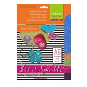 Vaessen Creative 5x Adhesive Glitter Paper 160g A5 Assortment 5, Sortment