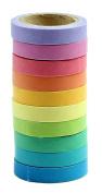 VWH 10pcs Decorative Washi Colourful Sticky Paper Masking Adhesive Tape Scrapbooking