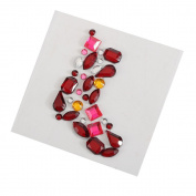 Self Adhesive Christmas Craft Gem Sticker Shapes - Candy Cane, Holly, Snowflake, Christmas Tree