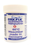Swiss Nähpulver - 60 ° C Washable NähFix, Flick powder, fabric glue, fabric glue No.2, Ironing powder - 18g in the spreader