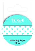 Toga MT44 Stars Masking Tape Washi Tape, blue / white, 5,5 x 7 x 1,5 cm