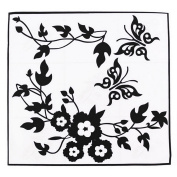 1 PC DIY Flower Branches Butterfly Wall Sticker For Home Decoration Art Decor Decals Black