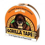 Incredibly Strong WHITE GORILLA TAPE, 10m x 48mm, Grips SMOOTH, ROUGH & UNEVEN Surfaces