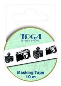 Toga MT99 Masking Tape Washi Tape Camera 5.5 x 7 x 1.5 cm Black/White