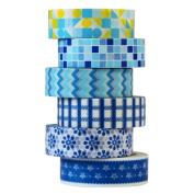 UOOOM 6pcs Decorative Washi Tape Masking Tape Adhesive Scrapbooking DIY Craft Gift