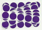 Purple 2.5cm Round Scratch Off Stickers, Pack of 50