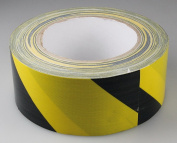 Fabric Adhesive Tape Black/Yellow, Industrial 3 mm x 13 m Self Adhesive Whiteboard Grid Gridding Marking Tape 50 mm x 25 m