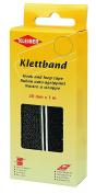 Kleiber Kletband Hook and Loop Tape, Black, 20 mm x 1 m