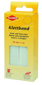 Kleiber Kletband Hook and Loop Tape, White, 20 mm x 1 m
