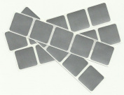 100 Silver Square 2.5cm Scratch Off Stickers
