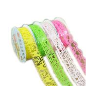 Clode® 10 PCS Decorative Lace Roll Washi Sticky Paper Masking Adhesive Tape Crafts DIY