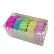 Kolylong 5pcs DIY bling bling Sticker Paper Masking Adhesive Decorative Tape Scrapbooking