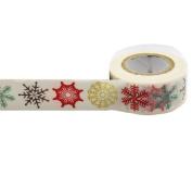 Masking Washi Paper 15mm x 10m Gift Craft Tape Rolls Decoration N15. Snow Flakes