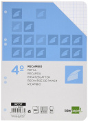 Spare liderpapel Quarter 100 Sheets 60 g/m2 Table 6 mm with Margin 6 Holes