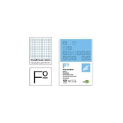 Spare liderpapel Folio 100 Sheets 60 g/m2cuadro 4 mm with Margin without Drilling