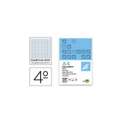 Spare liderpapel Quarter 100 Sheets 60 g/m2 Table 3 mm with Margin 6 Holes