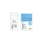 Spare liderpapel Folio 100 Sheets 60 g/m2pauta 4th 3.5 mm With Margin 4 Holes