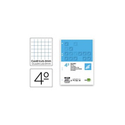 Spare liderpapel Quarter 100 Sheets 60 g/m2 Table 8 mm with Margin 6 Holes
