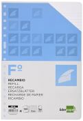 Spare liderpapel Folio 100 Sheets 60 g/m2 Horizontal without Margin 16 drills