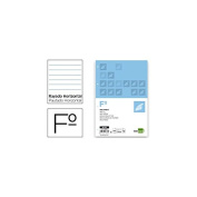 Spare liderpapel Folio 100 Sheets 60 g/m2horizontal with Margin 4 Holes