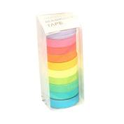 Clode® 10PCS Decorative Washi Rainbow Sticky Paper Masking Adhesive Tape Scrapbooking DIY