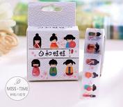 Miss Time Kokeshi Dolls Masking Tape
