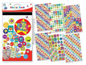 Anker Over 1500 Kids Create Arts and Crafts Sticker Book, Plastic, Assorted Colour