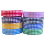Asdomo 15mm DIY Printing Cotton Fabric Washi Tapes Roll Sticky Adhesive Tape Paper Masking Scrapbooking