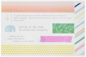 Pinkfresh Studio Felicity Washi Tape Stickers 10cm x 15cm 3/Sheets, Other, Multicoloured
