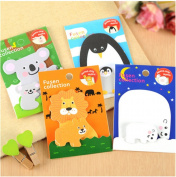 Affe 4pcs Animals Memo Pad Paper Sticker Post it Sticky Notes Kawaii Kids Gift
