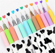 Affe 12 pcs Cute Diamond Gel Pen Milky Cow Pens Writing Korean Kawaii Stationery Material Escolar Office School Supplies