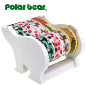 Polar Bear Multi Roll Tape Dispenser , including 4 rolls of Washi Tape( 15mm X 9.14m each),1 inch Core …