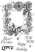 """Sweet Dixie """"Floral Border"""" Clear Stamp Set, A6"""