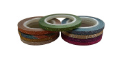 New 3mm Glitter Washi Tape – 5M rolls in 9 different colours – for crafts and scrapbooking etc.