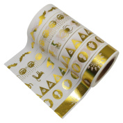 CCINEE Set of 6 Japanese Gold Washi Masking Tape Collection Premium Value Pack-GOLD02