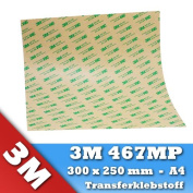3M 467MP VHB Adhesive Transfer Tape 300 x 250 mm A4 1 Sheet