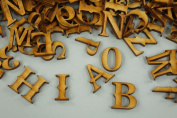 250 + PLAIN WOODEN SMALL LETTER & DIGITS ADHESIVE LETTERS BLANK DECOUPAGE