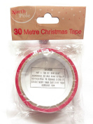 Do not open until 25th Dec Red Christmas Stocky Tape 30m Wrapping Xmas