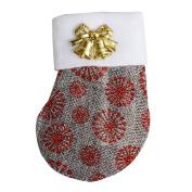 Christmas Fork Tableware Bag,Sock Decoration Dinnerware Cover Candy bags Xmas Tablaware Bag MML