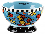 Romero Britto Dessert Dish / Icecream Bowl - Flowers - Pop Art Kunst aus Miami - #334405