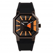 Comtex Men's Watches Black Quartz Analogue Silicone Band Sports Fashion Watches Water Resistant