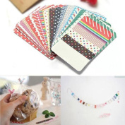 27pcs Colourful Decorative Masking Tape Craft Stickers Labelling Scrapbook
