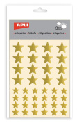 APLI Stickers – Star Gold – 3 sheets APLI