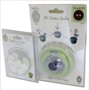 Epiphany Crafts BST-05 Button Studio to Design Your Own Custom Buttons Round, Green