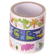 3 Rolls Paper Adhesive Gift Tape-Animal Designs