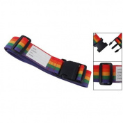 Sonline Side Release Buckle Rainbow Style Adjustable Nylon Suitcase Belt