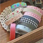 Souked Fabric Washi Tape Roll Decorative Sticky Cotton Adhesive Craft